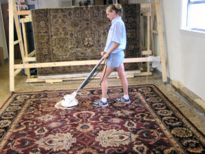 Some Rugs That Are Not Colorfast Particularly Silk And Wool May Need To Be Dry Cleaned Cotton